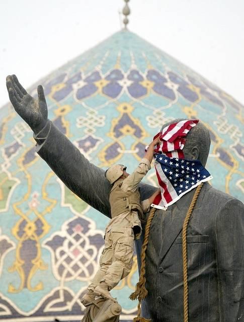 USA och dess allierade invaderade Irak och störtade Saddam Husseins regim 2003. Foto: Laurent Rebours/Flickr