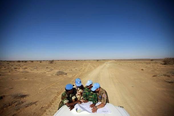 MINURSO-soldater i Västsahara. Foto: UN Photo/Martine Perret