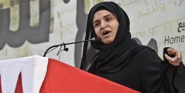 Ayat al-Qurmezi talte ut mot styresmaktene i Bahrain. Hun ble fengslet og torturert i 2011, men har fortsatt å holde sine appeller. Hun fikk Studentenes fredspris under ISFiT-festivalen i Trondheim 2015. Foto: ISFiT