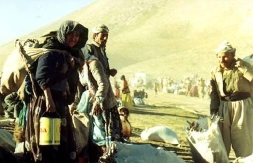 Kurdere på flukt fra Anfal-kampanjen nord i Irak under Saddam Hussein. Foto: Jan Sefti/Flickr