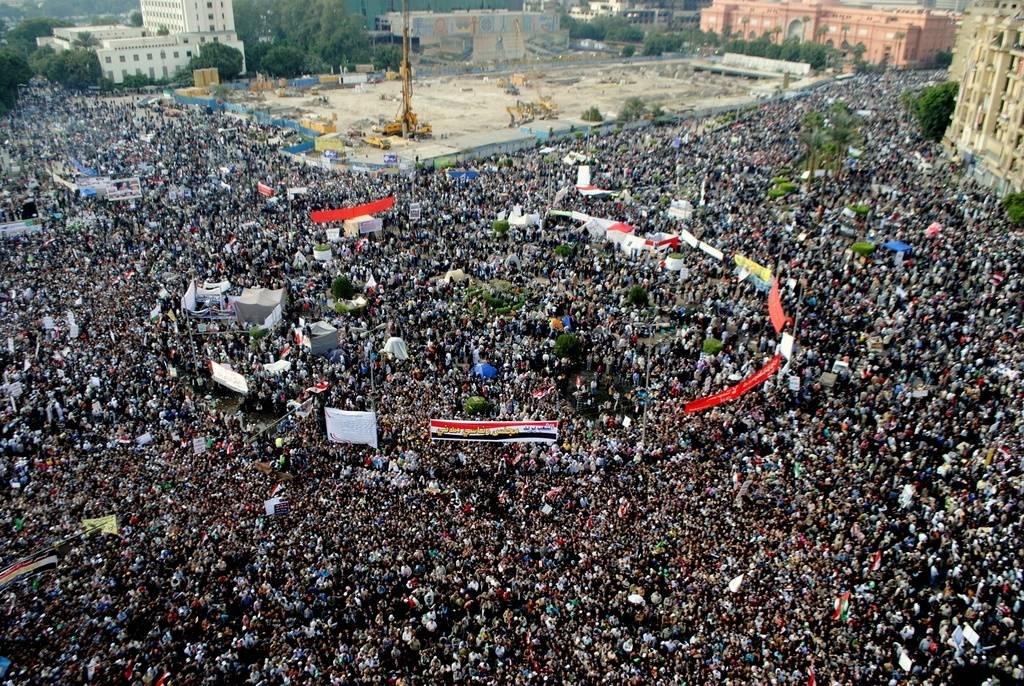 Demonstrasjon på Tahrir-plassen i Kairo i 2011 Foto: Lilian Wagdy via Wikimedia Commons
