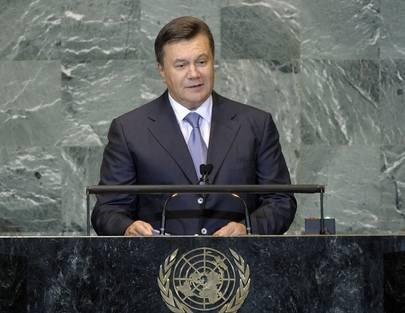 Viktor Janukovitsj i FN.
