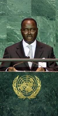 Francois Bozizé taler for FNs generalforsamling. UN Photo/Joshua Kristal
